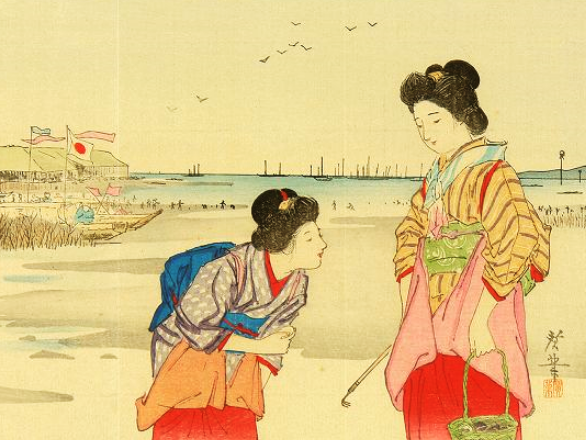 芝浦の汐干 明治40年(1907) 寺崎広業